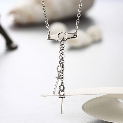 925 sterling silver pearl cup pendant necklaces