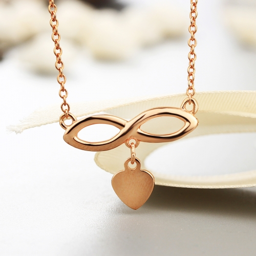 925 sterling silver gold plated Infinity necklaces