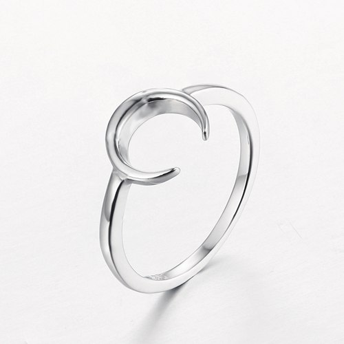 925 sterling silver moon ring for ladies