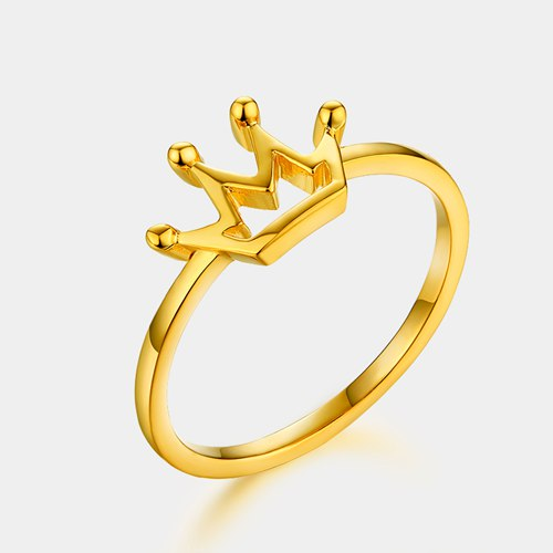 925 sterling silver hollow crown rings for ladies