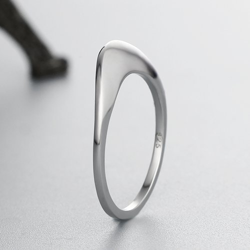 925 sterling silver simple womens rings