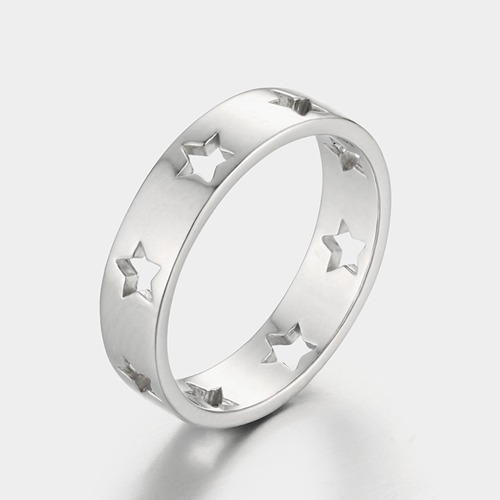 925 sterling silver hollow star rings for girls