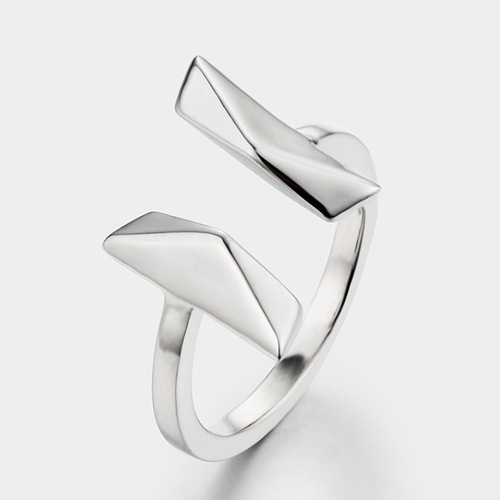 925 sterling silver simple open ring