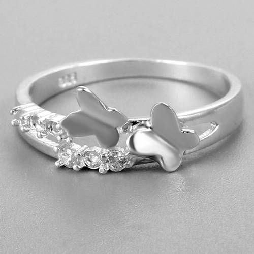 Renfook 925 sterling silver butterfly rings