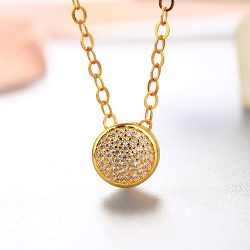 925 sterling silver round with several cz stones pendants