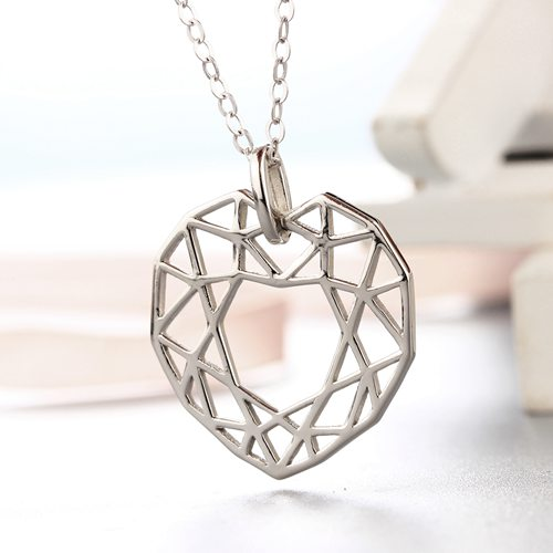 925 sterling silver special hollow heart pendants