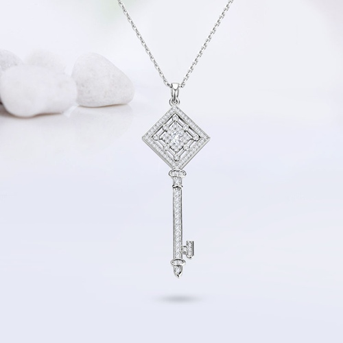 925 sterling silver rhombus key pendants