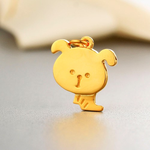 925 sterling silver cute dog charm