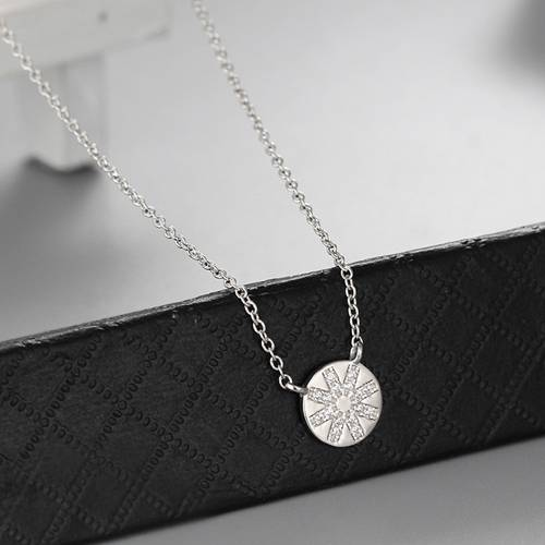 925 sterling silver round pendant necklaces