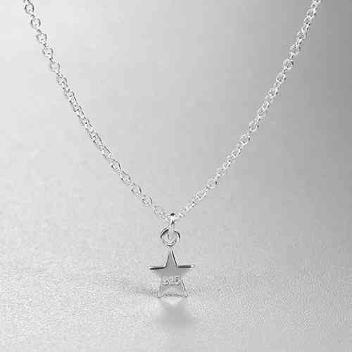 925 sterling silver simple star necklace