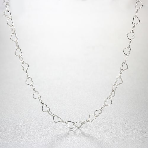925 sterling small simple heart necklaces