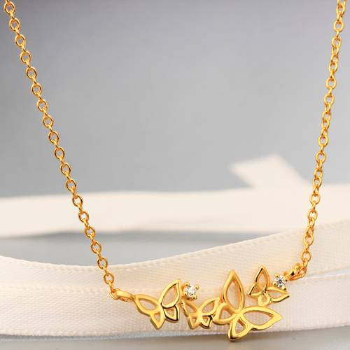 925 sterling fashion butterflies necklaces