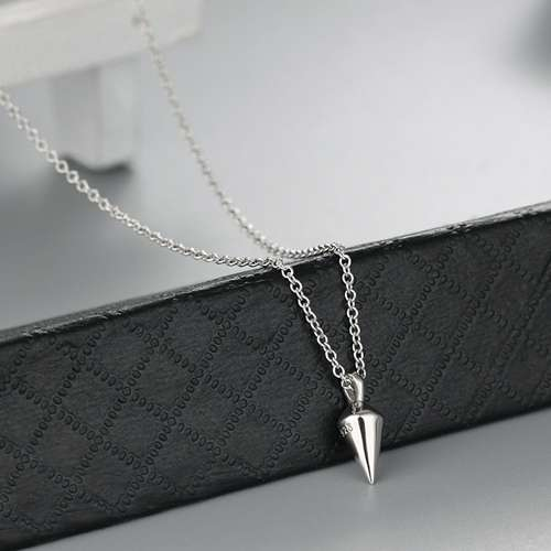 925 sterling silver bullet necklaces