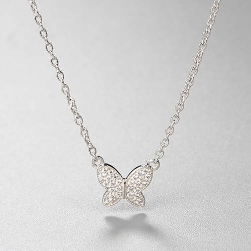 925 sterling silver butterfly charm necklace