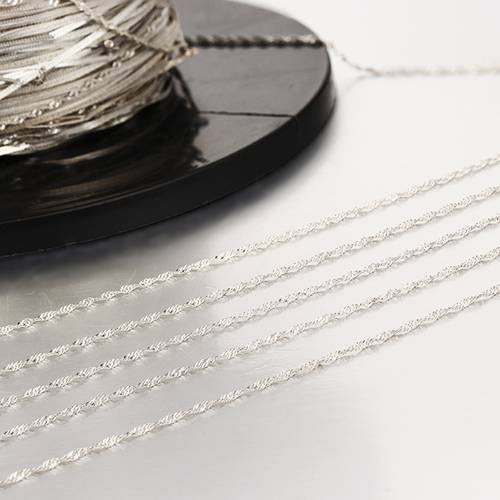 925 sterling silver diy jewelry rope chains