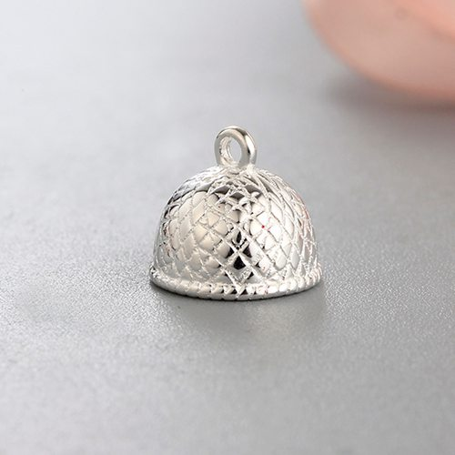 925 sterling silver snakeskin pattern necklace end caps
