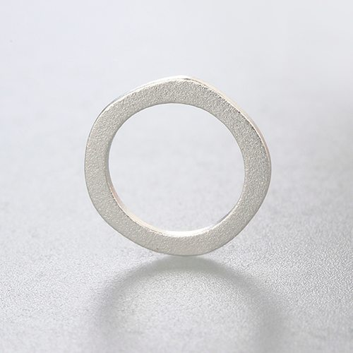 925 sterling silver 15MM sandblasting irregular rings