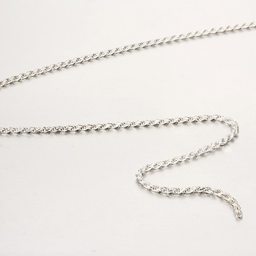 925 sterling silver wholesale 1.6MM diameter cut rope chain