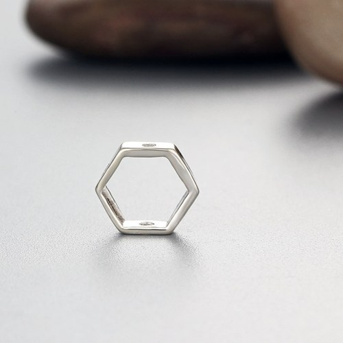 925 sterling silver hexagon ring spacer