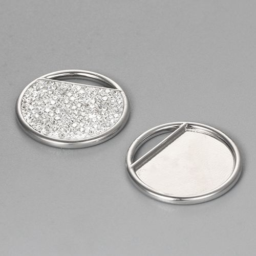 925 sterling silver 20mm round clay tray