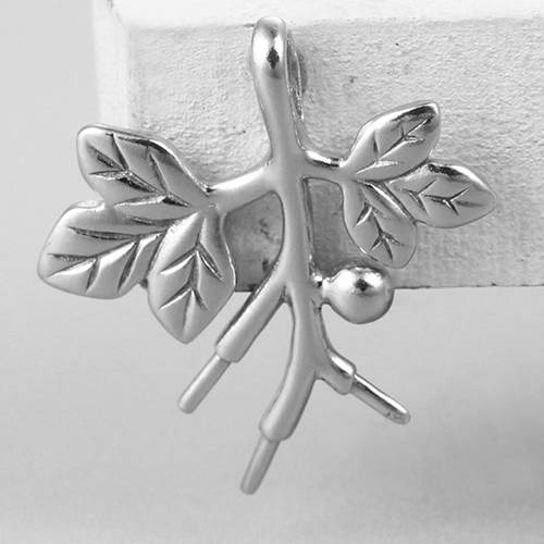925 sterling silver tree pearl pendant findings