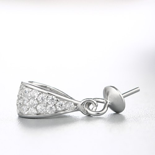925 sterling silver cz pearl cap