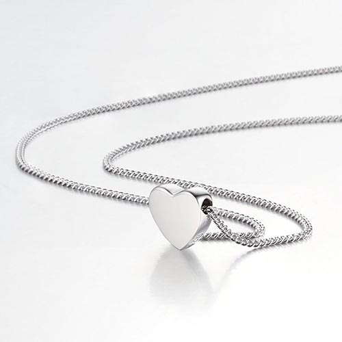 925 sterling minimalist heart chain necklaces