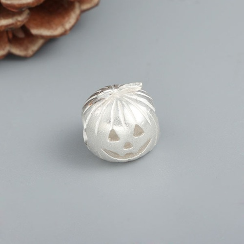 925 sterling silver Halloween pumpkin bead
