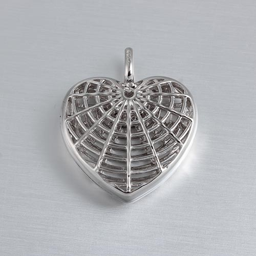 925 sterling silver spider net heart locket
