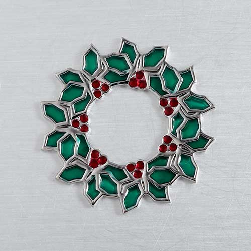 925 silver enamel Christmas floating charm for locket