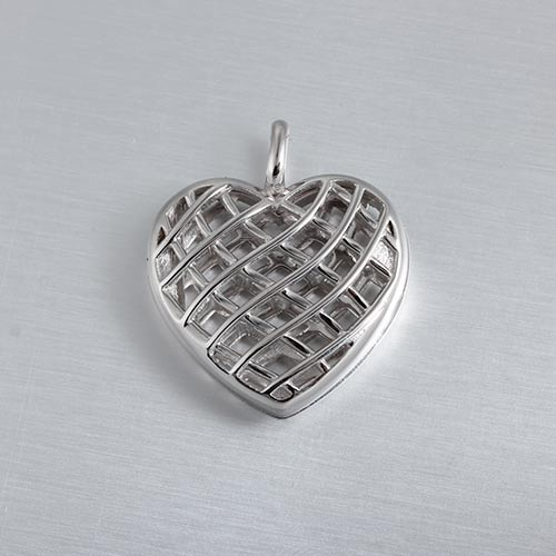 925 sterling silver hollow heart locket
