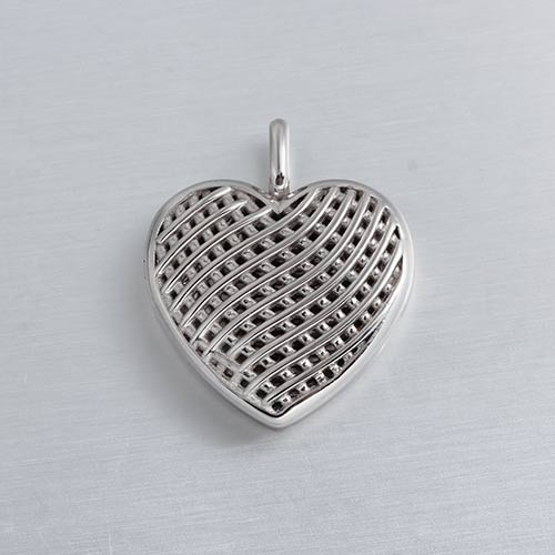 925 sterling silver heart locket pendant