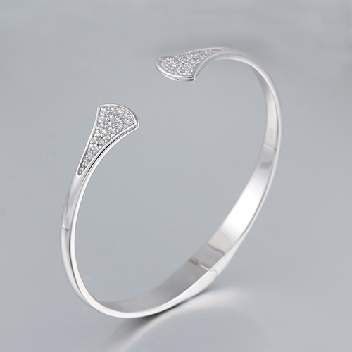 925 sterling silver cz open bangles