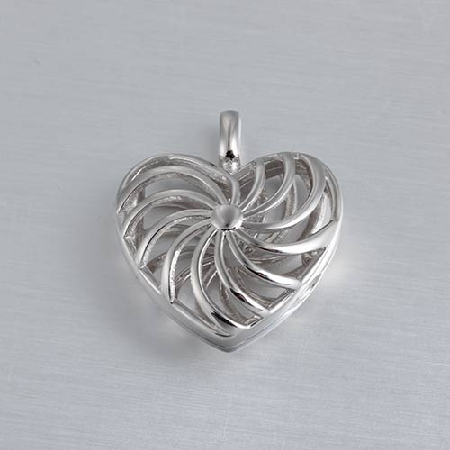 925 sterling silver 3d heart locket