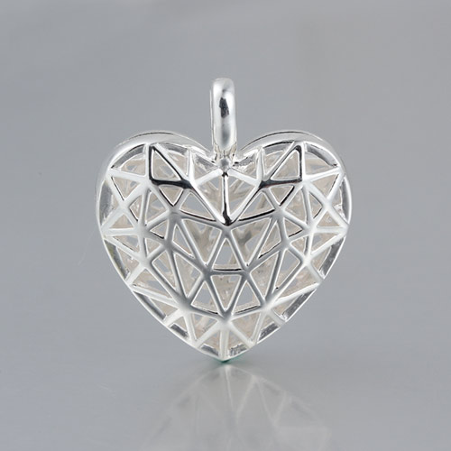 925 sterling silver heart diffuser locket