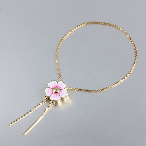 925 sterling silver flower adjustable chain bracelet