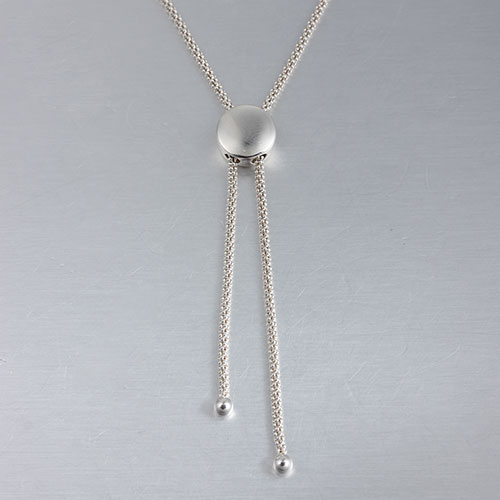 925 silver round sliding necklace,procon chain