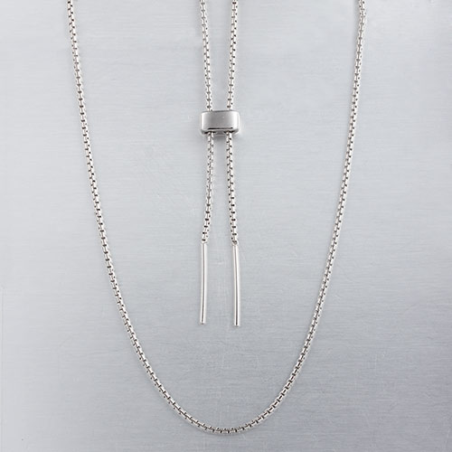 925 silver adjustable sliding necklace