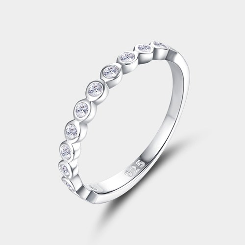 925 sterling silver cubic zirconia rings