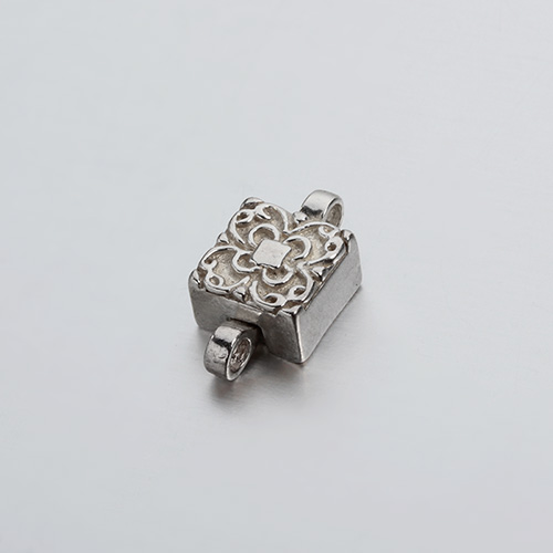 925 sterling silver flower square magnetic clasp