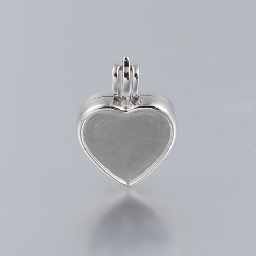 925 sterling silver heart tray locket pendant for crystal