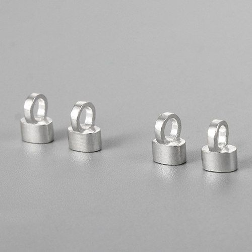 925 sterling silver end cap for leather rope
