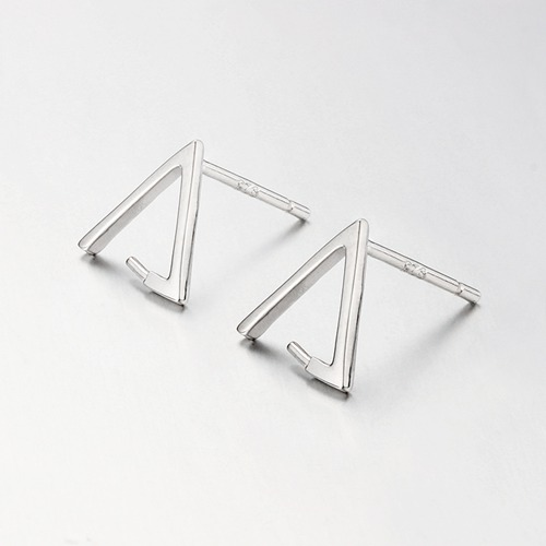 925 sterling silver triangle pearl earring findings