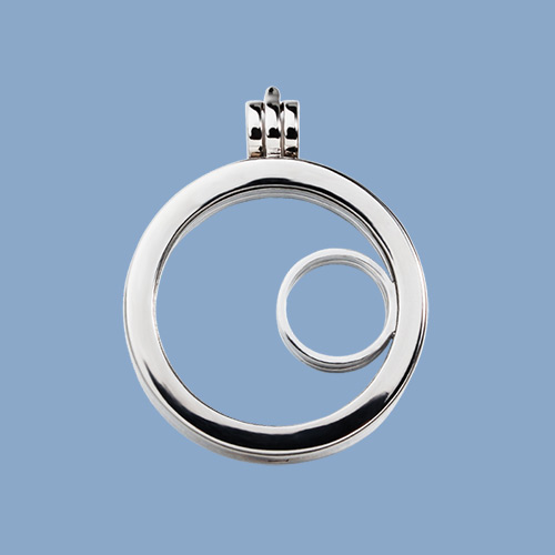 925 sterling silver round charm glass locket