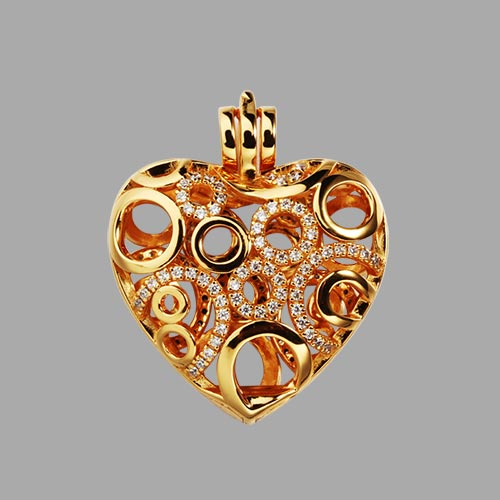 925 sterling silver cz heart cage diffuser locket