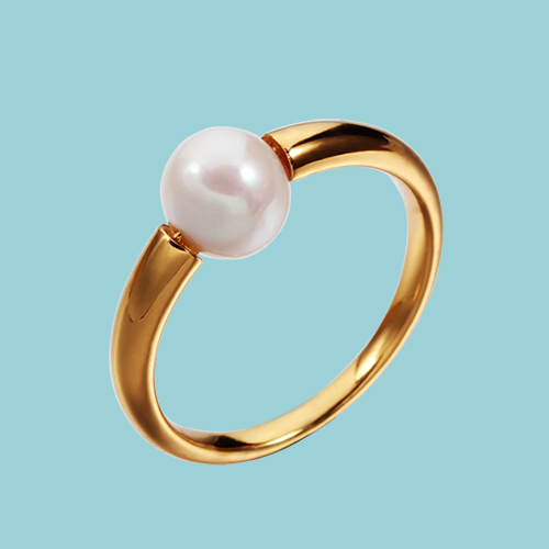 925 sterling silver single pearl rings
