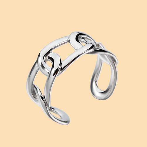 925 sterling silver knot adjustable rings
