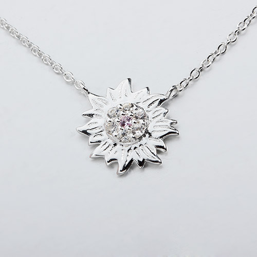 925 sterling silver gemstone sun necklaces