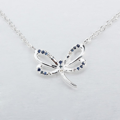 925 sterling silver gemstone dragonfly necklaces