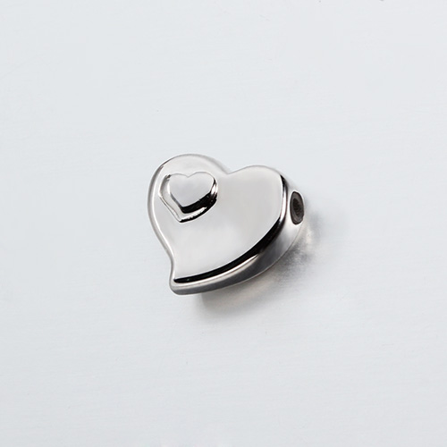 925 sterling silver heart in heart slider beads